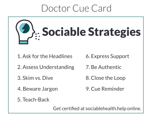 Doctor Cue Card Screen