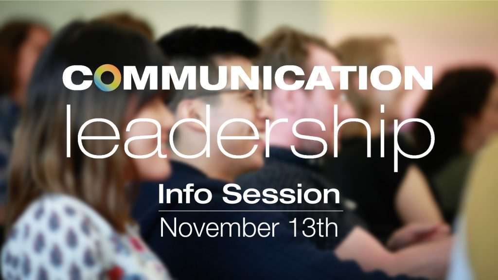 Learn more about Comm Lead at an Info Session or Live Q & A
