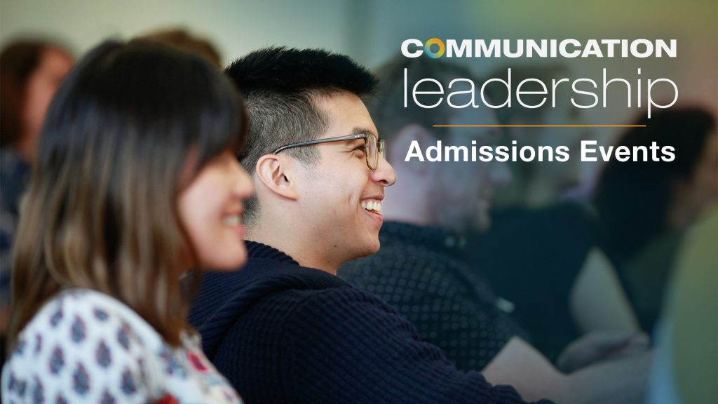 Learn more about Comm Lead at these upcoming admission events